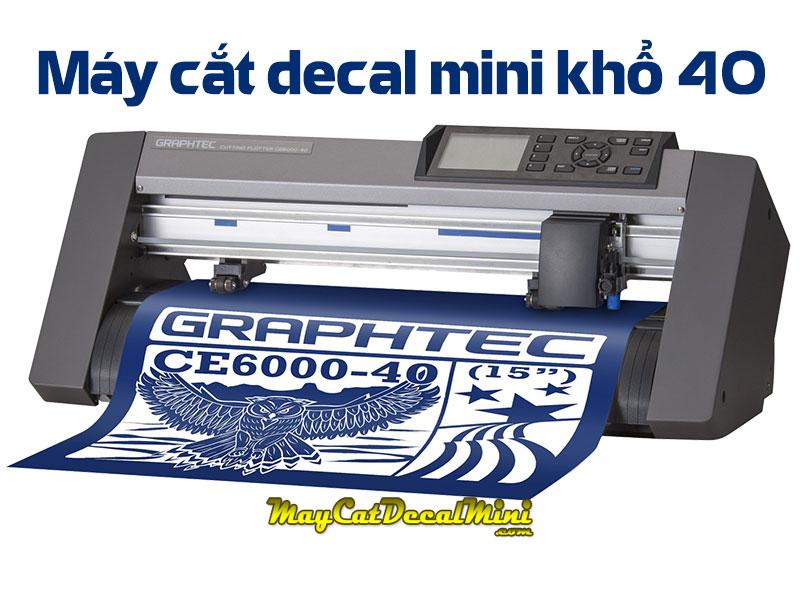 Máy cắt decal mini khổ 4 tấc Graphtec CE6000-40 Plus